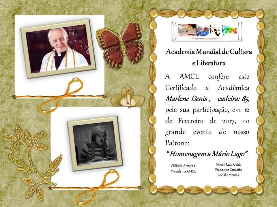 Homenaje a Mario Lago.AMCL