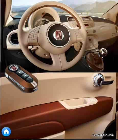 Fiat 500 1957 Edition Door Panel and Key Fob