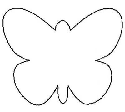 Junior 39 s daily u u an kelebekler for Butterfly template free