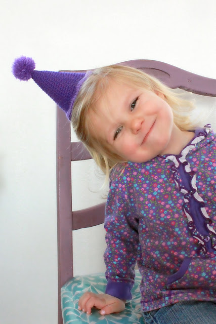 free crochet patterns: party hat tutorial