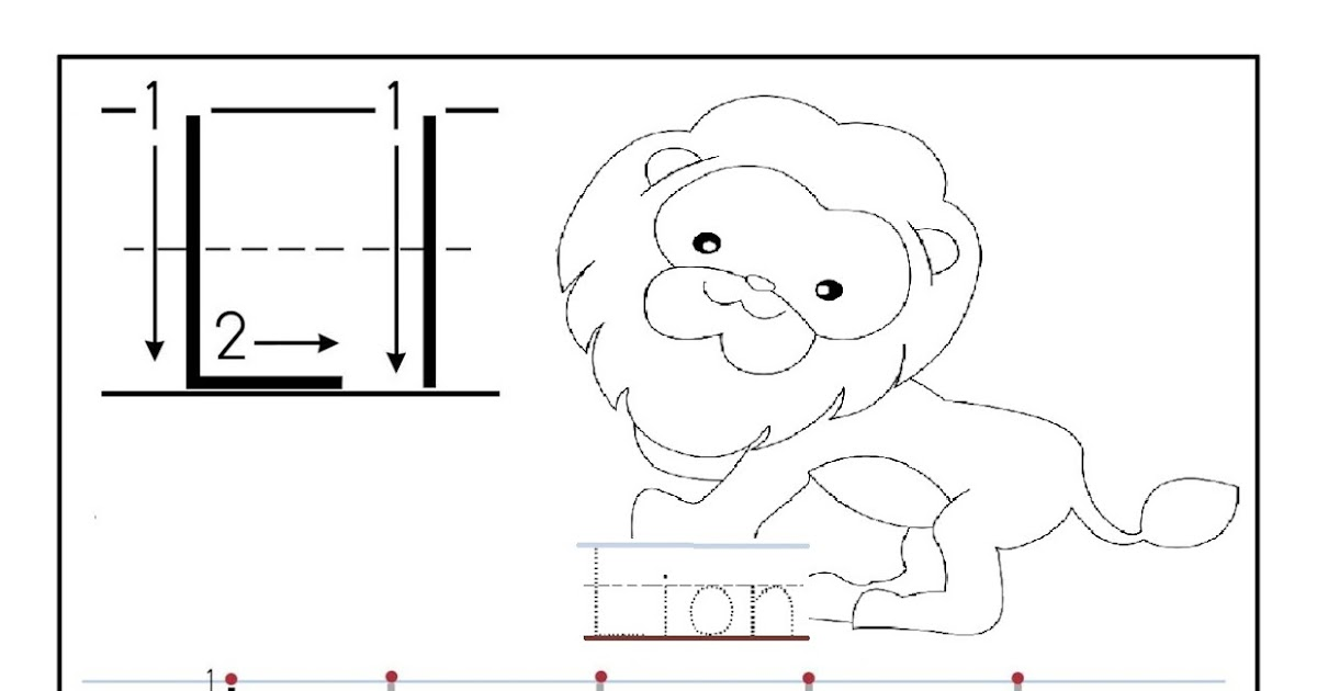 Free Tracing Letter L Worksheet