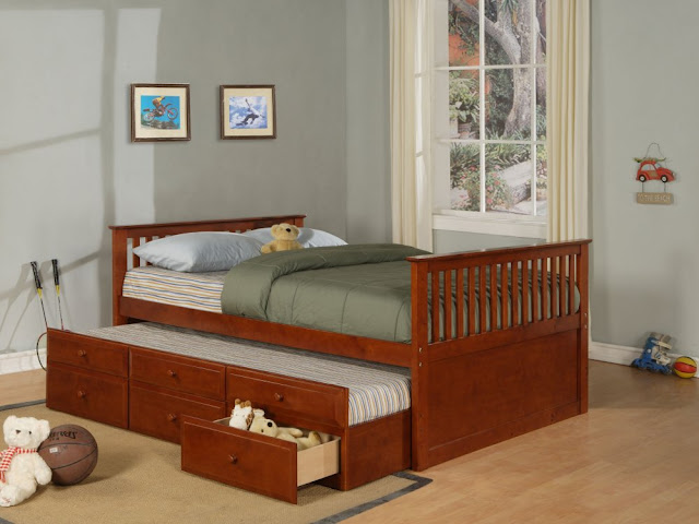 Drawers Bunk Wooden Bed Designs