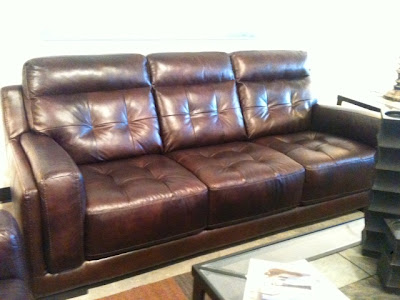 Italian leather sofa, Leather Sofa San Diego, Miramar Road Furniture Divano, top-grain leather, aniline dyed leather