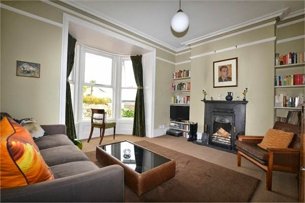 The lounge in a Newlyn Edwardian Terraced house