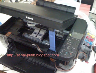 cara mematikan fungsi low ink warning canon