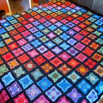 Original Spectrum Throw - Free Pattern