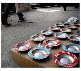 Ceniceros realizados con latas de gaseosas
