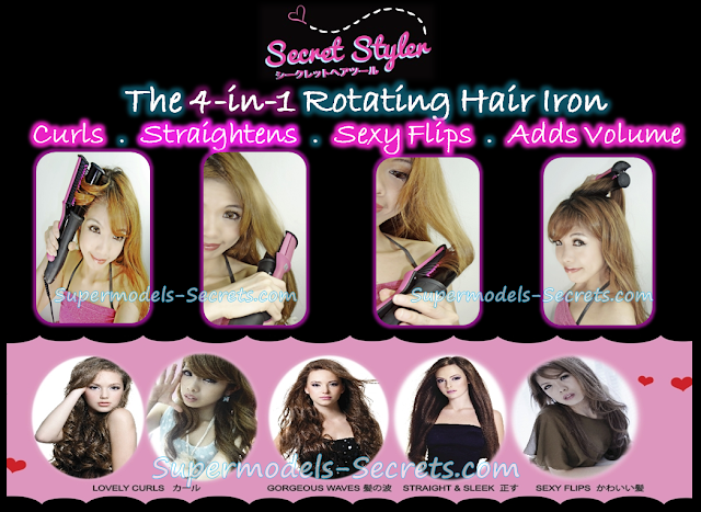 Secret Styler 4 In 1 Hair Rotating Curling Straightenin