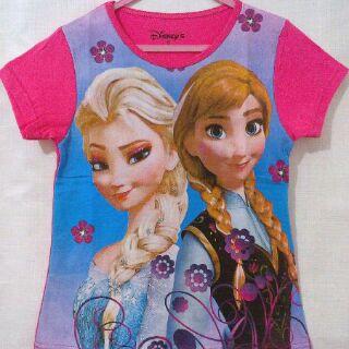 Baju Anak Karakter frozen Pink Size 7 - 10 Y