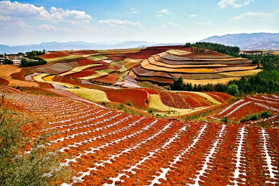 Tierras Rojas de Dongchuan Dongchuan Red Lands yunan china