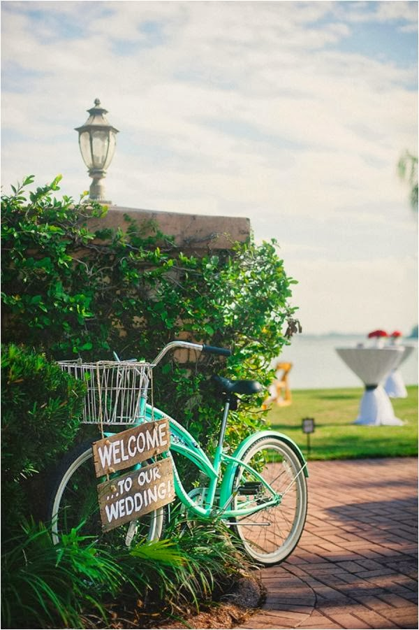 bici decorando boda