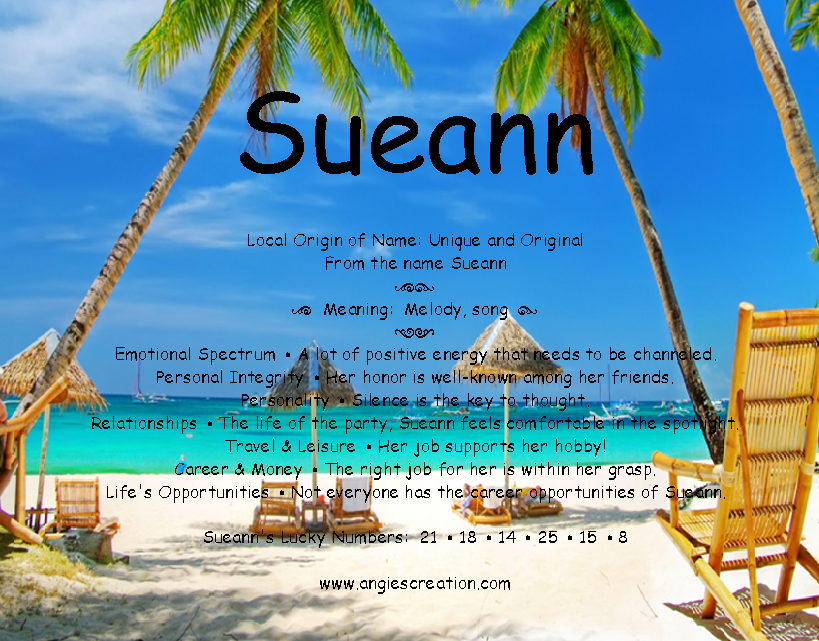 The meaning of the name -  Sueann