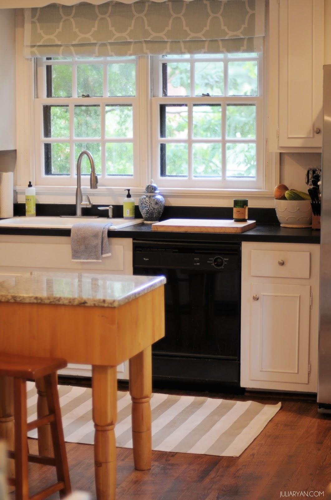 new house progress kitchen window treatments julia ryan. Black Bedroom Furniture Sets. Home Design Ideas