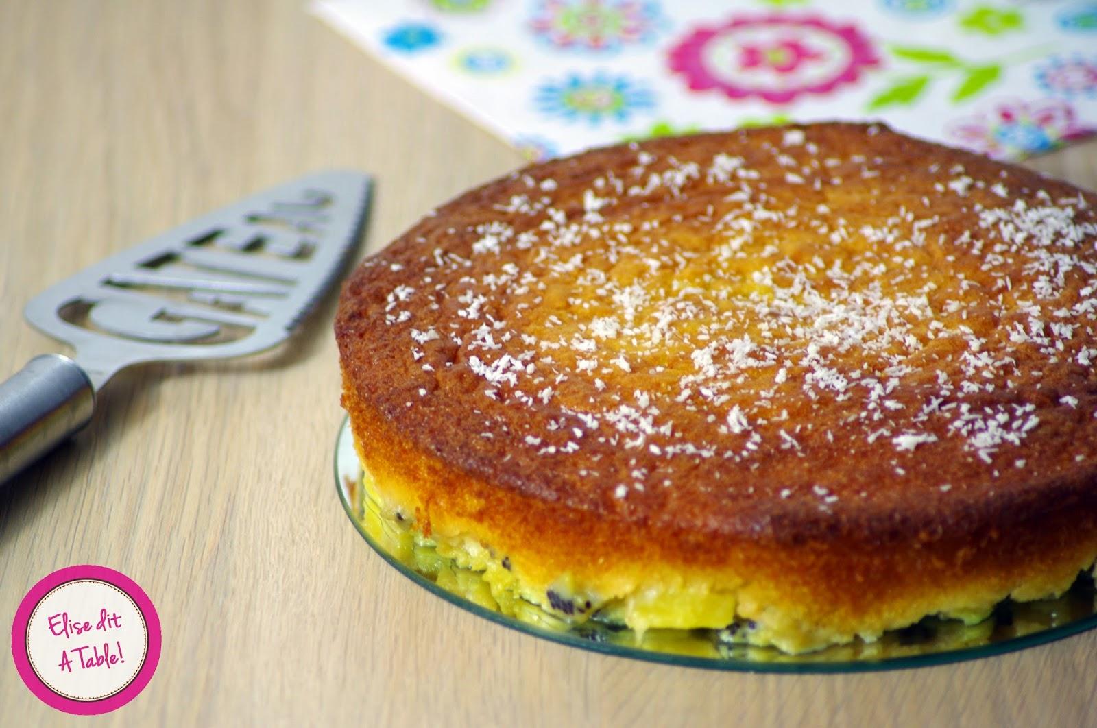 Gâteau kiwi ananas