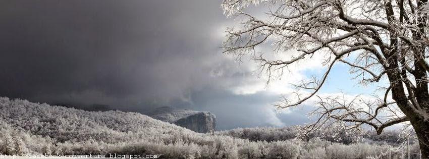 Couverture facebook originale saison hiver