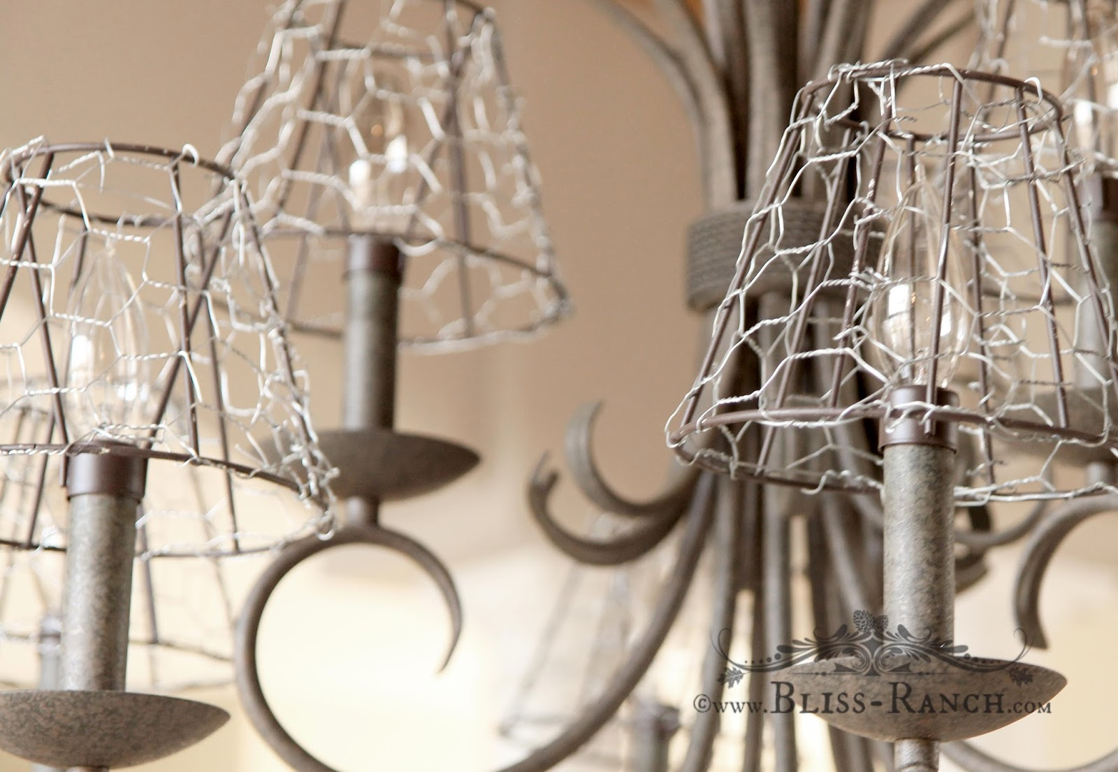 Chicken Wire Shade Covers, Bliss-Ranch.com
