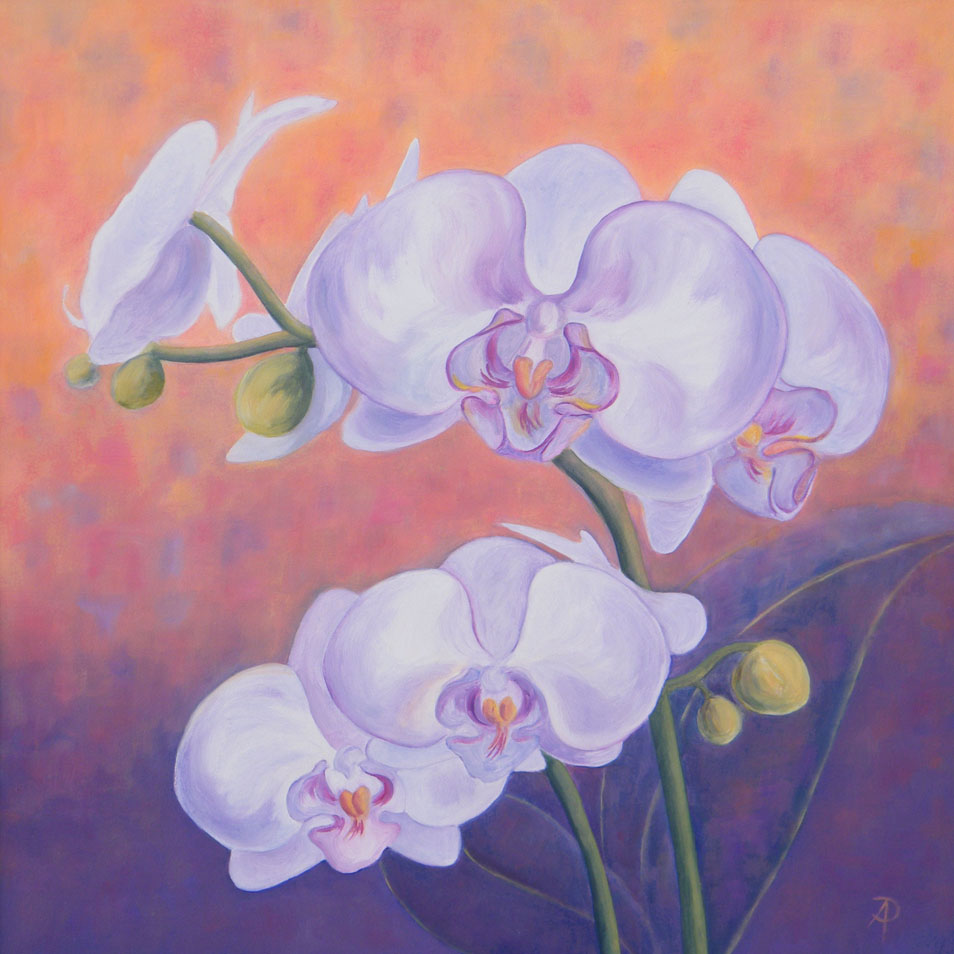 simple orchids paintings - 954×954