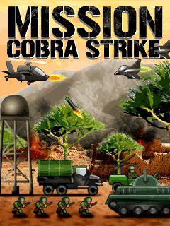 Screenshots of the Cobra Strike for java mobile, phone.