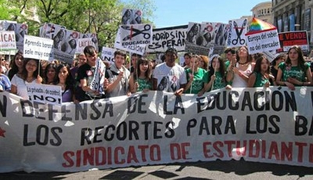 La educación en España está en lucha contra los recortes brutales del PP