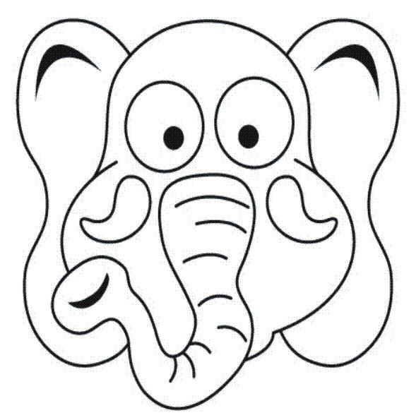 Mascaras de animales salvajes para colorear - Imagui