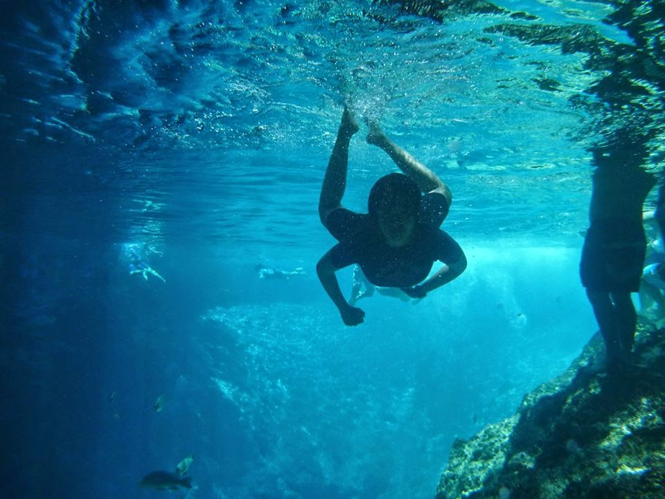 Swimming in Enchanted River