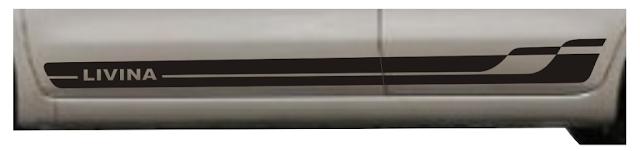 Kit adesivo Livina faixa lateral Nissan!