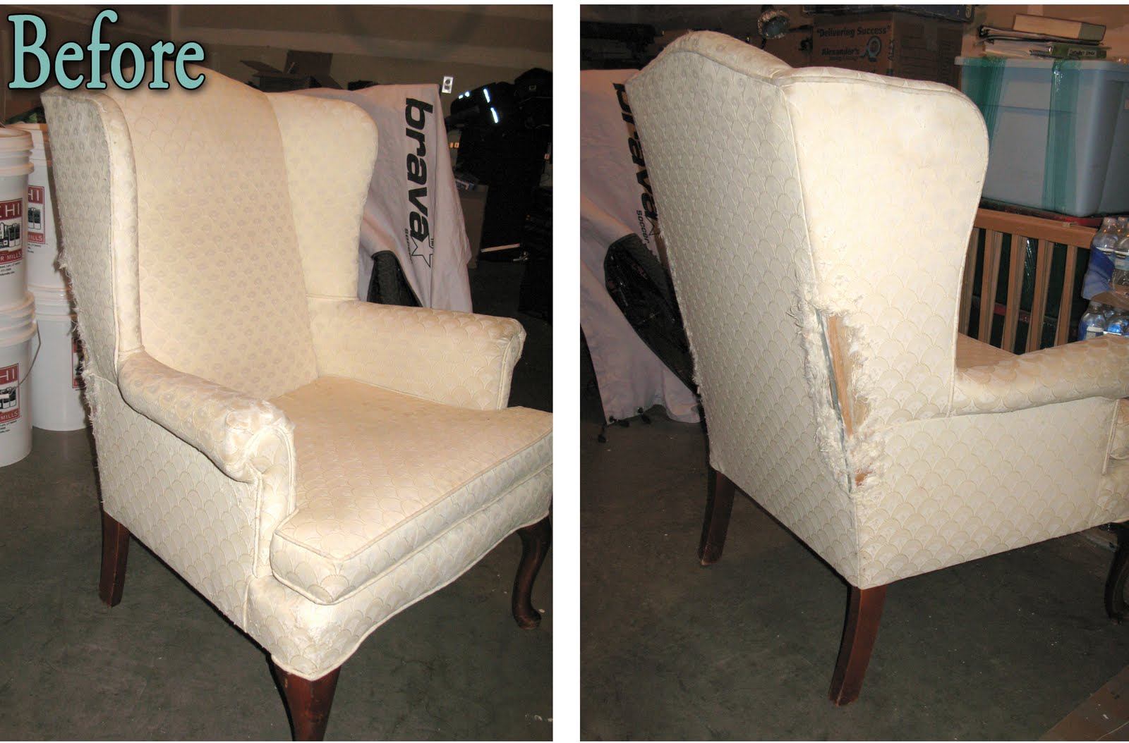 Cost To Reupholster Wingback Chair Modest Maven: Vintage Blossom Wingback Chair