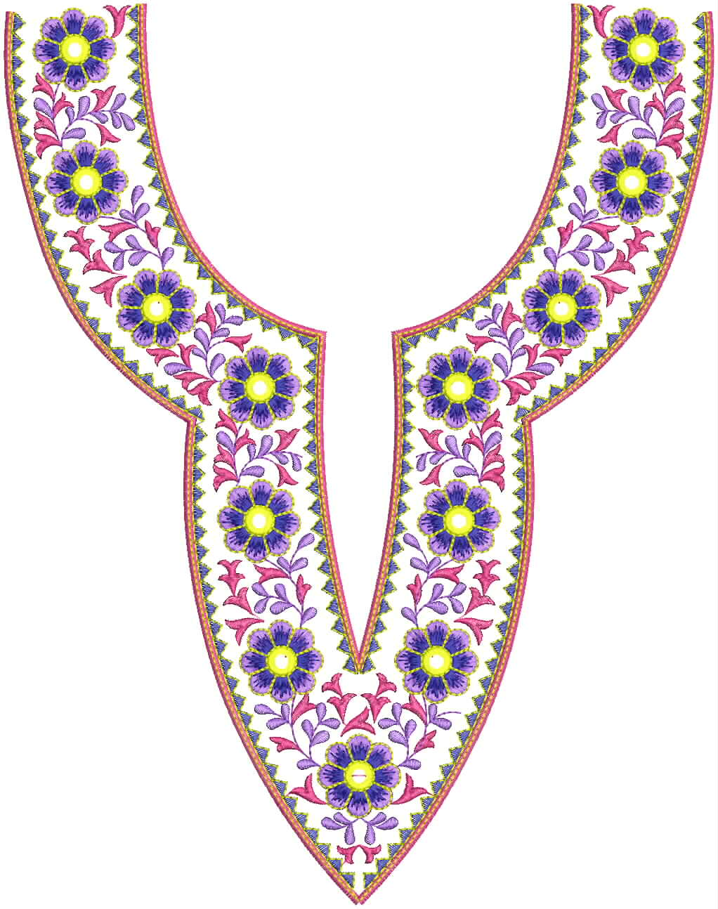 Embdesigntube sindhi neck embroidery designs