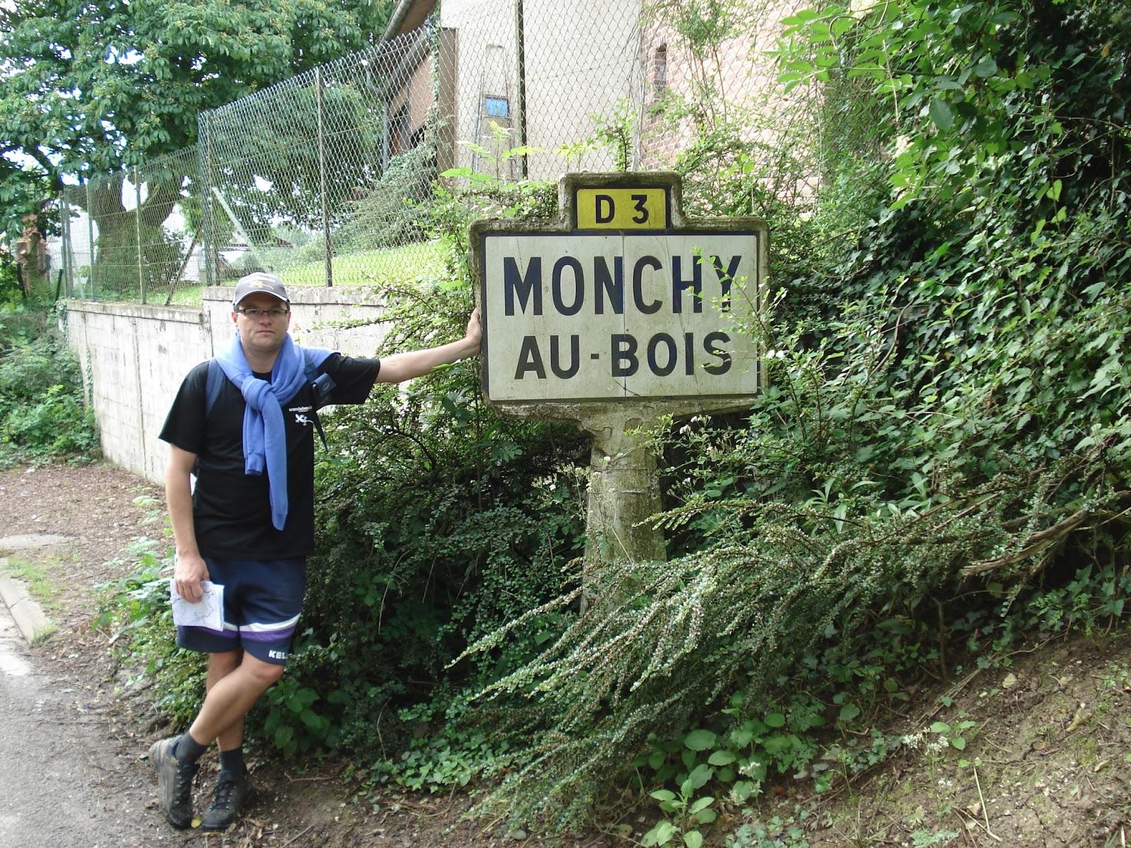 onderweg in Monchy-au-Bois