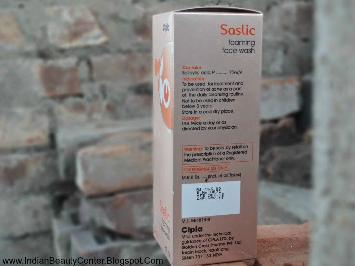 Salicylic Acid Foaming Face Wash India