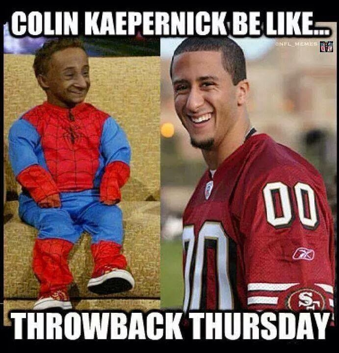 22 Meme Internet: colin kaepernick be like... throwback ... | 691 x 720 jpeg 103kB