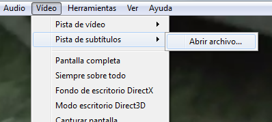 Cómo juntar subtítulos y video separados - VLC Media Playe