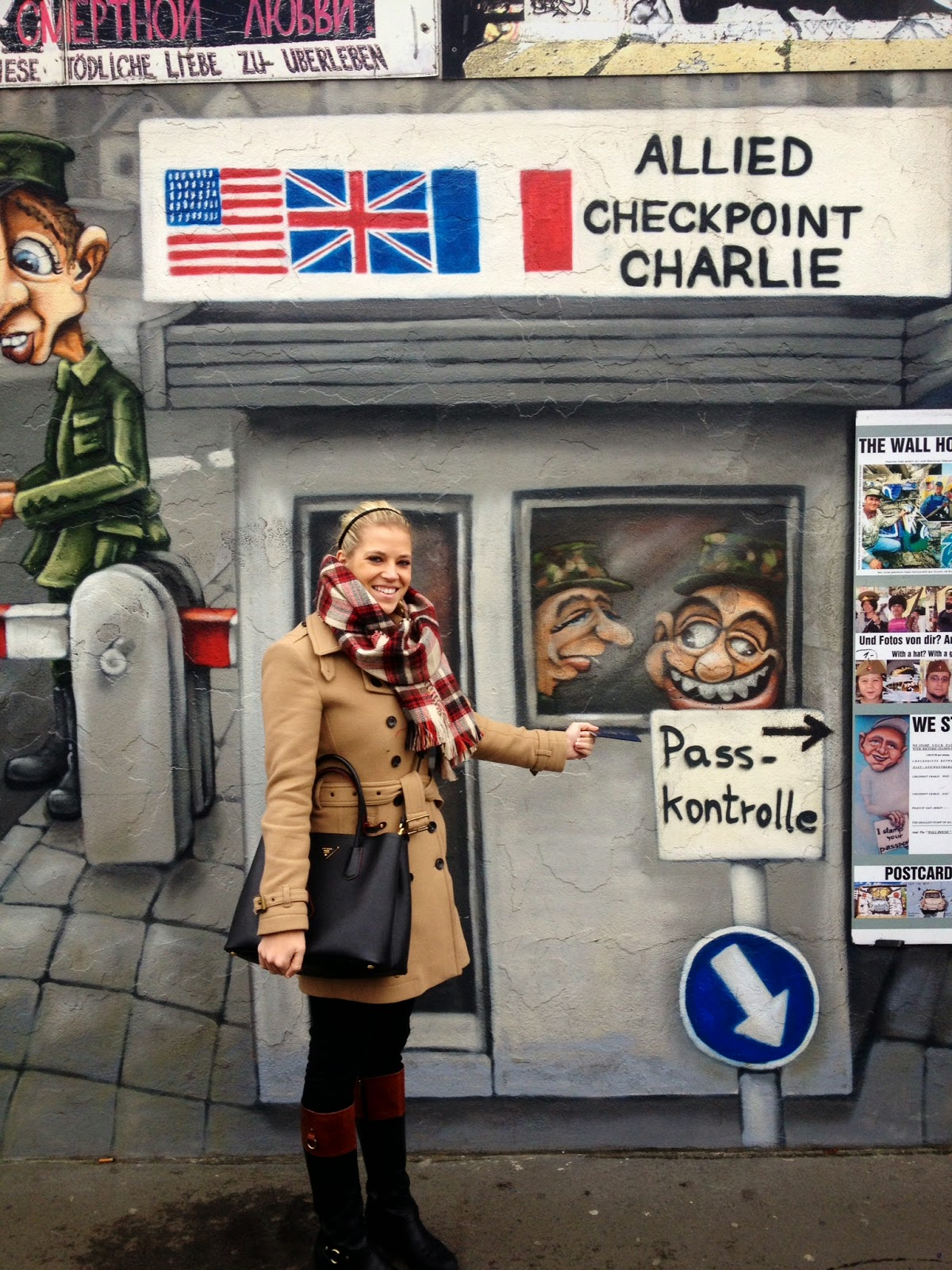 East Side Gallery Checkpoint Charlie cartoon