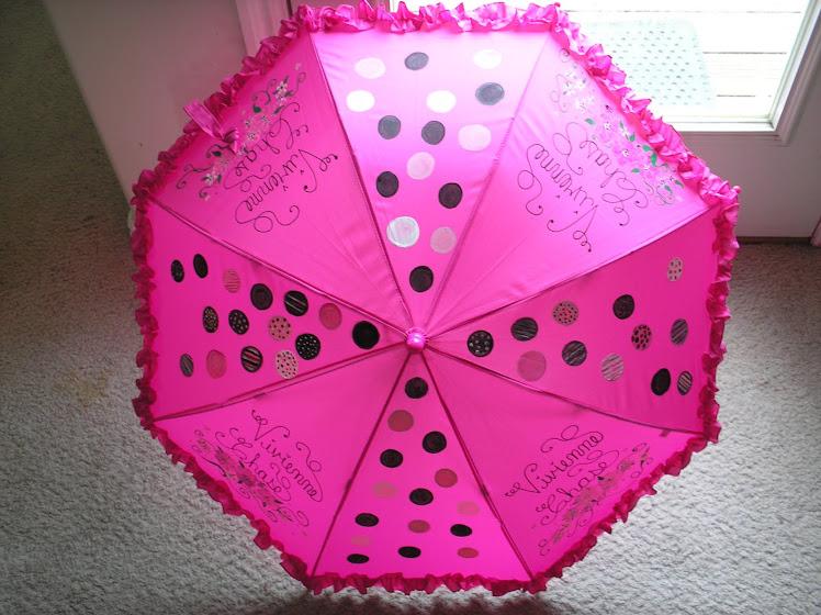 hot pink polka dots, black, white and pink