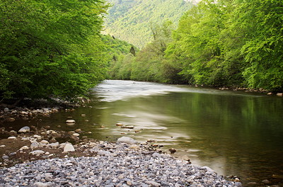Photo of Chéran river in Massif des Bauges Natural Park