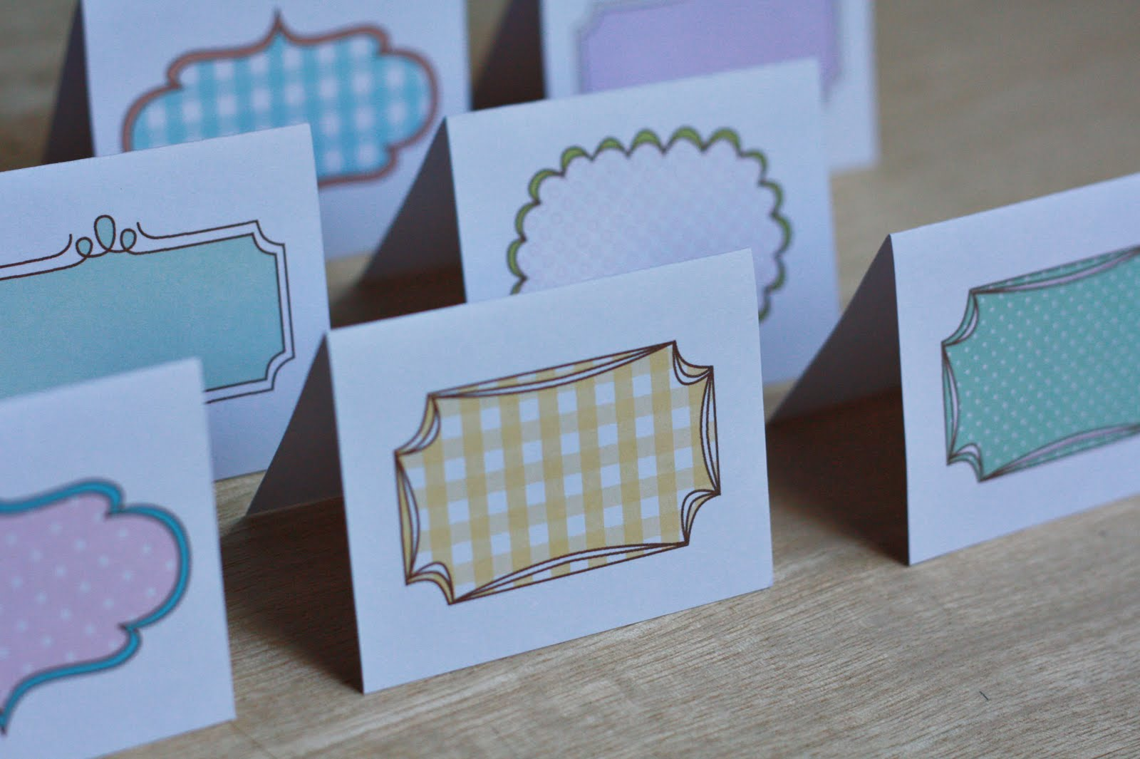 place cards template