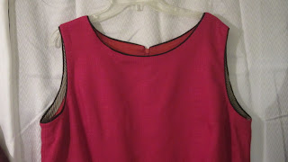 Magenta Linen Dress