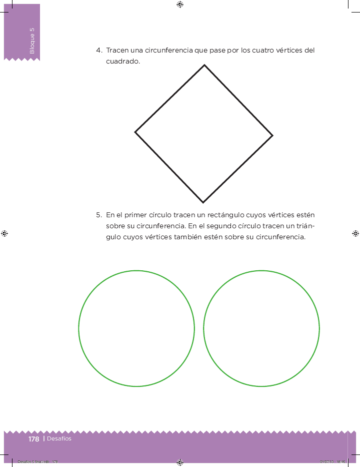 Diseños circulares - Desafíos matemáticos Bloque 5 2014-2015