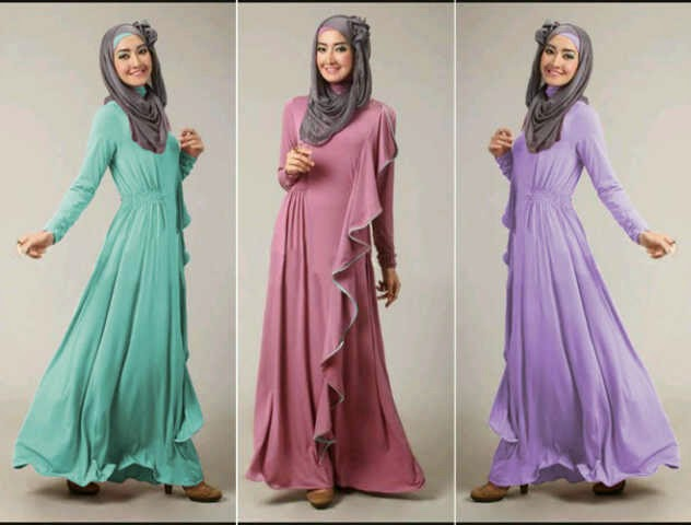 gambar baju muslim modern dress panjang