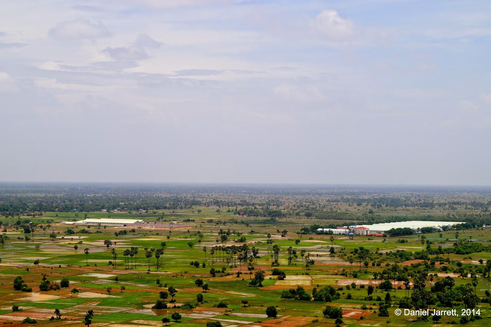 View from Phnom Udong, Oudong, Cambodia