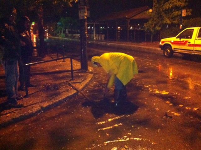 Συντονισμένη προσπάθεια του Δήμου Βόλου για την  αντιμετώπιση των προβλημάτων από την καταιγίδα