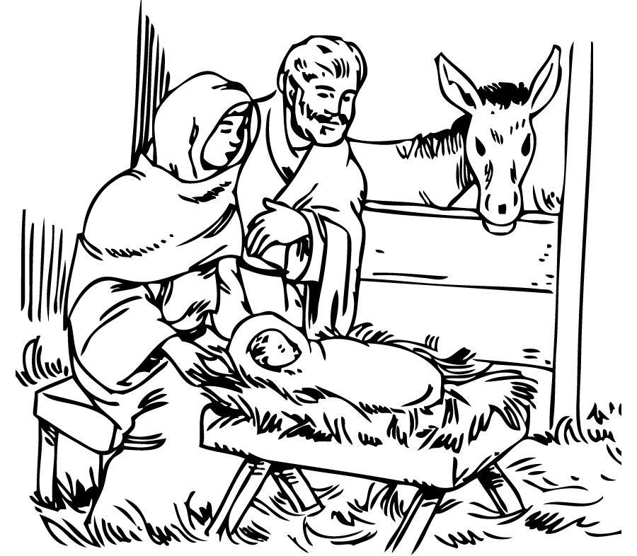 Maria jose y el niño jesus para colorear - Imagui