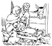 Dibujos para colorear del Nacimiento de Jesus . Dibujos para Niños dibujosparaninos dibujos de navidad para colorear nacimiento nino jesus animalitos