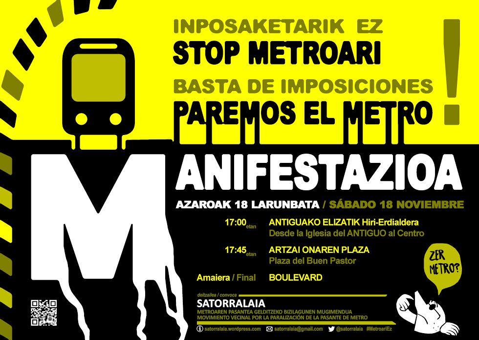METROARI STOP ! Manifestazioa