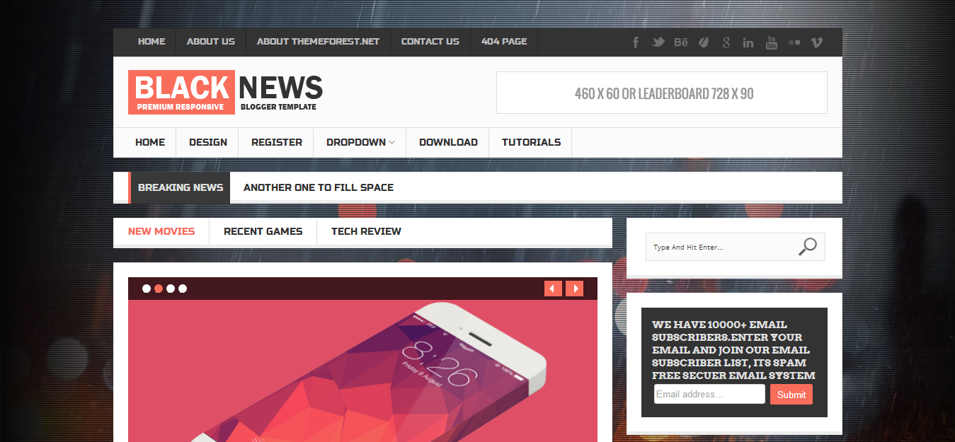 35 Most Sold Premium Responsive Blogger Templates at Themeforest