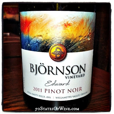 Bjornson Vineyard 2011 Edward Barrel Sample Pinot Noir