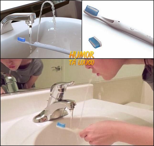 Escova de dente Rinser - Enxague a boca direto na escova