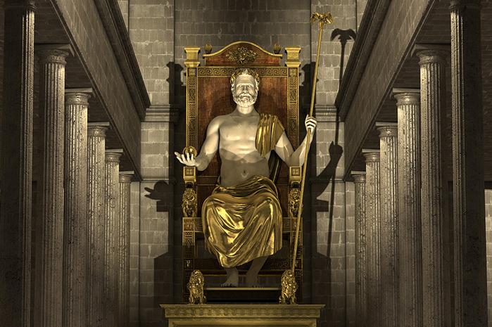 Статуя Зевса в Олимпии.
