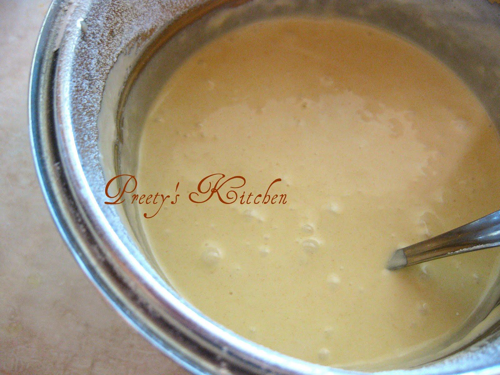 how to make thick pancake batter