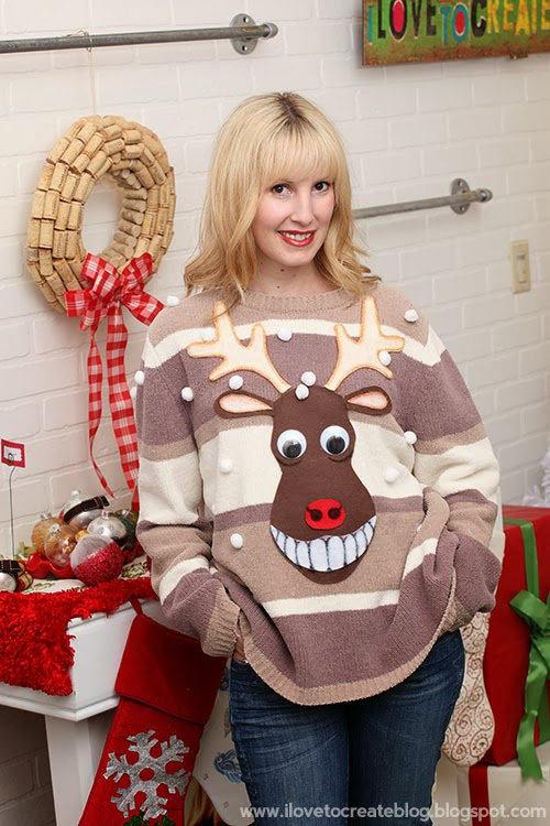 Making your own ugly christmas sweater